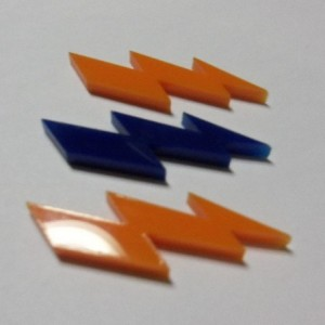 lightning bolt charms,holographic charms, laser cut charms
