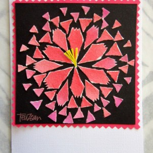 Torn Paper Stylized Flowers