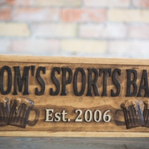 Wood Bar Sign, Wooden Pub Sign, Pub Décor, Bar Décor, Restaurant Sign, Custom Bar Sign, Business Sign, Custom Pub Sign, Pine Sign, Beer Sign