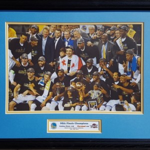 Golden State Warriors 2018 NBA Finals Champions 16 x 20 inch custom framed picture