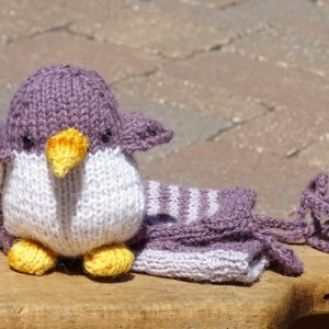 Baby Mittens and Penguin, Alpaca Mittens, Knitted Penguin, Eco Friendly Toy