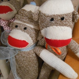 One Sock Monkey Classic Handmade Doll