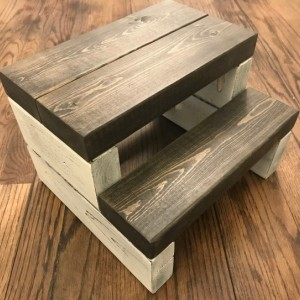 Rustic Segmented Kids Step Stool / Toddler Step Stool / Wooden Step Stool / Rustic Step Stool / Kitchen Step Stool / Bathroom Step Stool