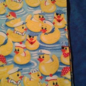 One duck PERSONALIZED  baby name blanket  Large Flannel baby girl Blanket nursery baby boy toddler  swaddle sailor