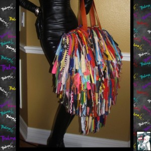 Handmade Fringe Handbag,Upcycled Purse,Custom Made,Large Fringe Purse,Mixed colors