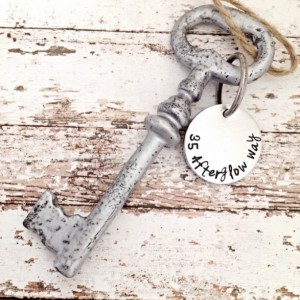 Housewarming Gift, HOME DECOR, Hand stamped key, new home, housewarming gift,  Personalized Gift, Skeleton Key, Vintage