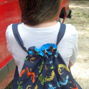 Leapin' Lizards Child Drawstring Backpack