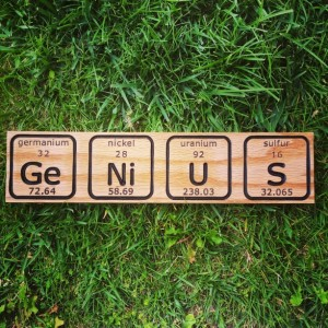 Personalized Periodic Table Letting Sign
