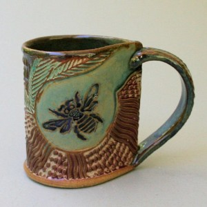 Bumblebee Pottery Mug Coffee Cup Honey Bee Mug Handmade Stoneware Microwave and Dishwasher Safe