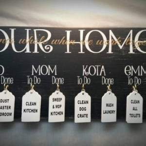 Chore Boards, Family Chores, Gift Idea, Family Names, Christmas Gifts, 10x20