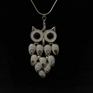 """BOHO Owl Necklace 18"""" Gold Chain"""