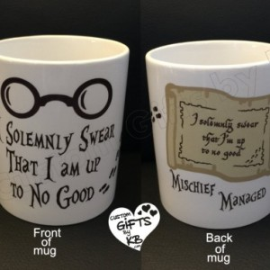 Harry Potter Solemnly swear I am up to no good designed on it, Harry Potter Coffee Mug, Mischief Managed Mug, Birthday Gift, Potter fan