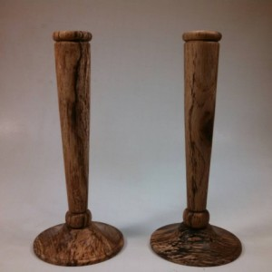 Hand Turned Wooden Candlesticks
