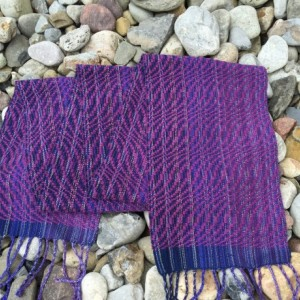 Handwoven Scarf Flowing Waves