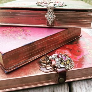 Handcrafted Book Boxes - Varieties Available - Jewelry Box - Stash Box - Multipurpose Box - Upcycled Art