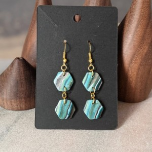 Beautiful Boho Earrings: Modern and Lightweight earrings | Geometrical Earrings | Fimo Earrings Turquoise earrings