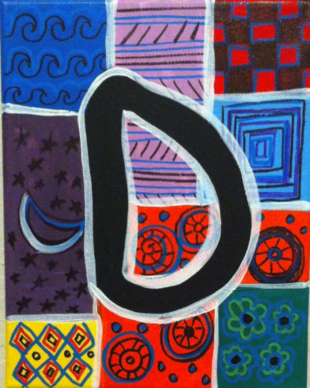 """ALPHABET LETTER """"D"""" - Greeting Card By Artist A.V.Apostle"""