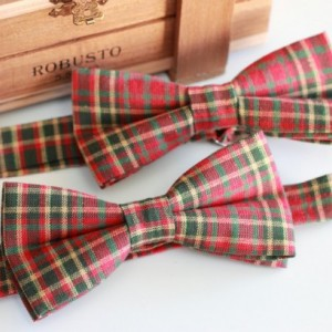 Christmas Bow Tie for Adults and Kids - Red and Green Plaid Bow Tie - Holiday Bow Tie - Ugly Sweater Party - Festive Bow Tie