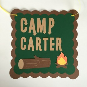 Camp Theme Birthday, Custom Name Camp Sign, Camp Door Sign, Campfire Door Sign, Camp Birthday