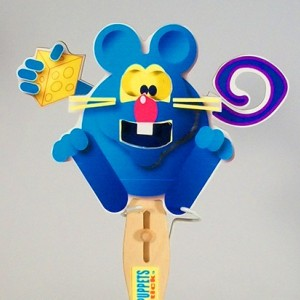 Wooden Puppet-  Mouse