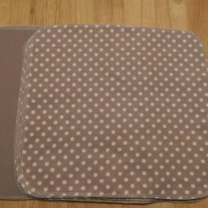 Paperless Paper Towels Gray Polka Dot and Solid Gray Set of 12, Cloth Napkins,  Unpaper Towels,  Reusable Towels, Housewarming Gift