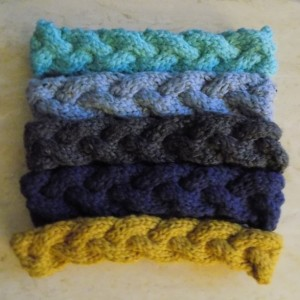 Boho/Hippie/Festival Chic Braided Cable Knit Headband 5-Pack