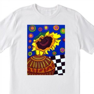 """Mexican Folk Art- """"Sunflower""""- 100% Cotton T-Shirt for Men, Women & Youth by A.V.Apostle"""