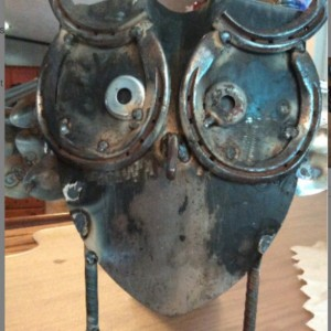 Repurposed Metal owl