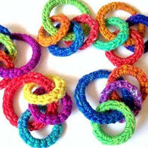 Cat Ferret Recycled Rings Toy Toys Handmade Michigan Rainbow O Ring