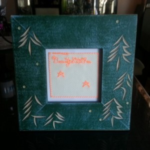 BeautyStitches Coaster Designs: Stars (specially framed)