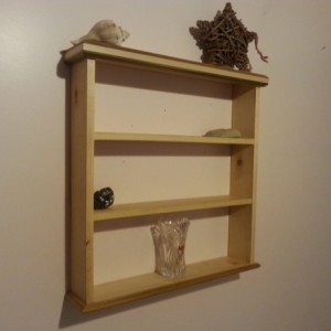 Knick knack shelf made of maple and poplar