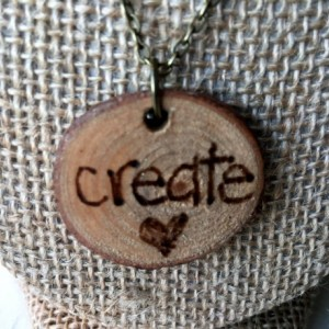 Create Woodburned Necklace (Pyrography, Rustic Jewelry, Wood Jewelry, Rustic Accessories, Wood Accessories)