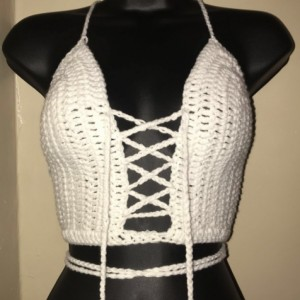 Lace up Halter Top