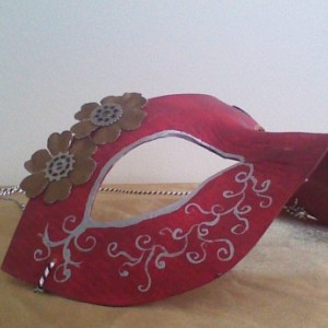 """""""Steampunk and Flowers"""" Cosplay/Masquerade Mask"""