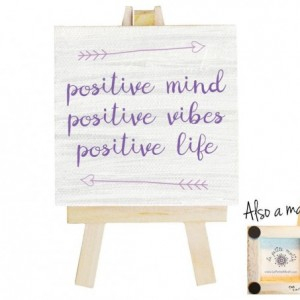 Positive mind, positive vibes, positive life mini canvas magnet. Positive quotes. Think positive. Positive wall art. Positive affirmation.