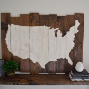 Wood United States Sign - Hanging Wall Art - America