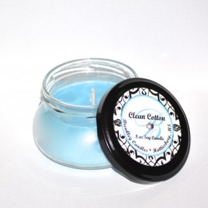 Clean Cotton 8oz 100% Soy Candle