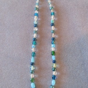 Blue Skies Beaded Necklace