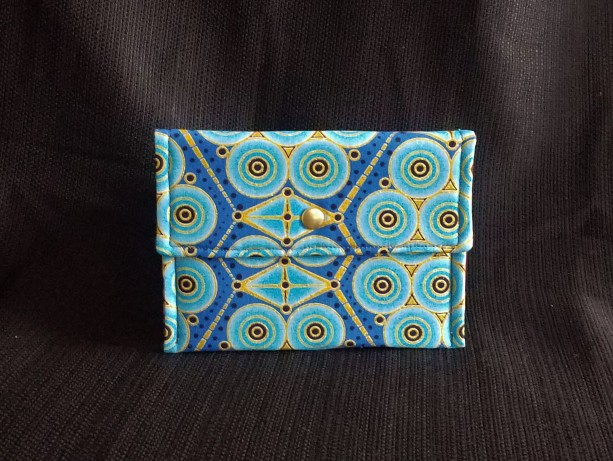 Snap Pouch - Ornate Blue