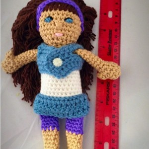 amigurumi plush / Jamie dolls / bedtime doll/ looks like me