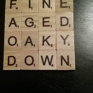 Set of 4 Small Size Scrabble Tile Coasters