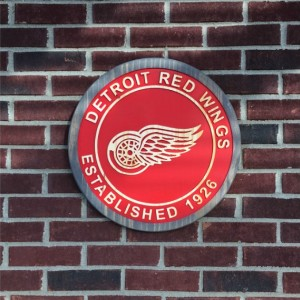 Detroit Redwings Est. 1926 Wood Carved Signs