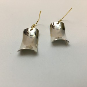Silver Anticlastic Earrings-22 ga.