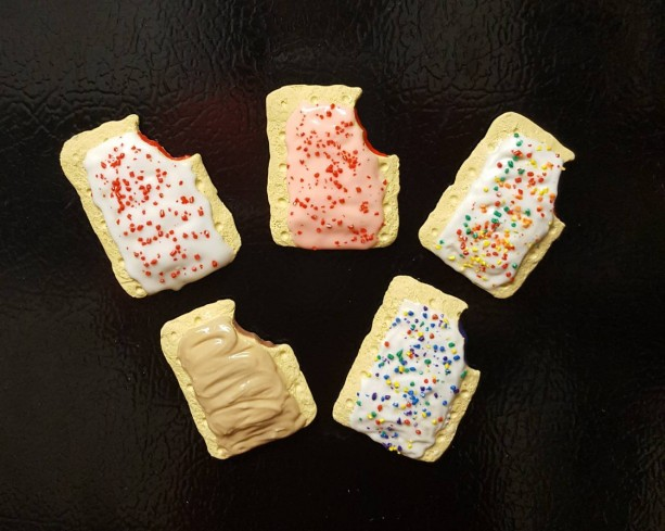 Mini Polymer Clay Pop Tart Fridge Magnet Set, Miniature food, realistic food