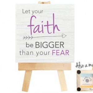 Faith mini canvas magnet. Faith. Gift for her. Gift for girlfriend. Religious. Religious gifts. Religious wall art. Spiritual art.