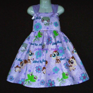 NEW Handmade Hasbro Littlest Pet Shop Lilac Sun Dress Sz 12M-10Yrs