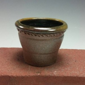 Wood Fired Pottery Bowl - Ceramic Candle Holder - Prep Bowl or Small Planter