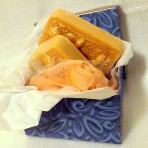 Gift Box Natural Soaps Honey~Lavender~Frank & Myrrh