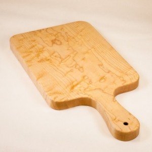 Figured Maple Cutting Board, Bread Board, Cheese Board, Charcuterie Board