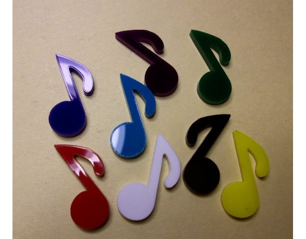 music charms, musical notes,laser cut charms,